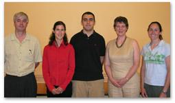 Jan Hopmans; schlarship recipient, Sandrine Journet; scholarship recipient, Tony Orozco; scholarship donor, Dr. Match Olney; and scholarship recipient, Julie Baker