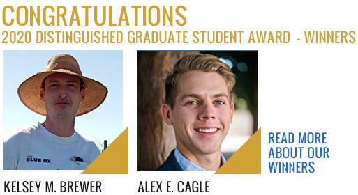 2020 Distinguished Graduate Student Award